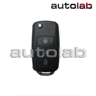 Carcasa Volkswagen 3 Botones Navaja + Panico