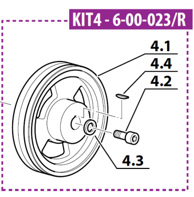 Pulley Kit Diam. 100mm