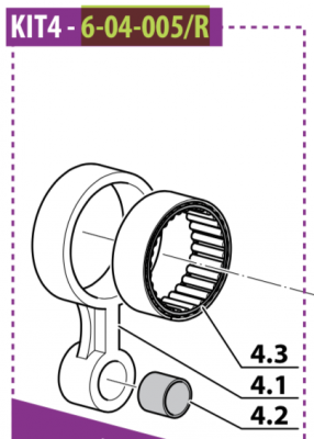 4th Stage Connecting Rod Kit Mch6