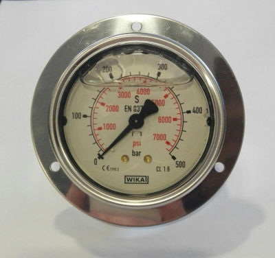Manometer 0-500 Bar W/flange